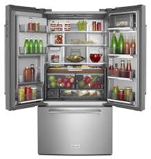 Kitchen Aid French Door Kitchenaid Introduces Three Door Free Standing Refrigerator