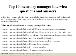 top  inventory manager interview questions and answerstop  inventory manager interview questions and answers in this file  you can ref interview