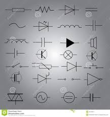 schematic symbols in electrical engineering icon set eps10 stock schematic symbols in electrical engineering icon set eps10