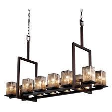 justice design fsn 8620 montana 17 light short bridge chandelier square with flat rim shade dark bronze with mercury glass hayneedle