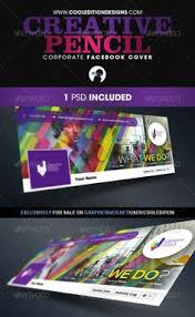 graphicriver creative pencil corporate facebook cover