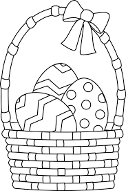 Small Picture Easter Egg Basket Coloring Pages easter eggs coloring pages in