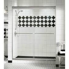 44 once 1 4 maax two panel frameless glass sliding shower door