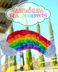 stained glass rainbow craft