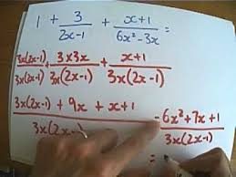 Adding And Subtracting Algebraic Fractions - Exam Style Examples ...