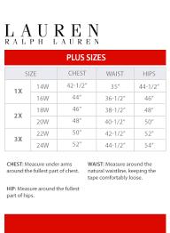 Macys Mens Suit Size Chart Ralph Lauren Plus Size Chart Via Macys In 2019 Baby Size
