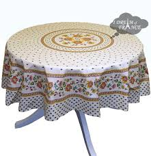 fayence cream cotton coated provence tablecloths by le cluny
