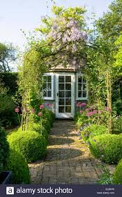 Small Picture Small summerhouse in English garden Stock Photo Royalty Free