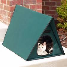 The Only Multiple Cat Outdoor Heated Shelter Hammacher Schlemmer