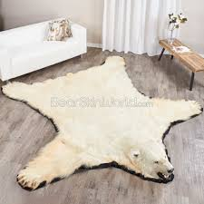 10 foot polar bear rug ep411263