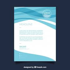carta de negocios plantilla de carta de negocios con ondas azules descargar vectores
