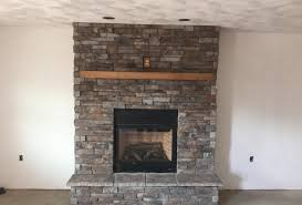 image of stone veneer fireplace picture