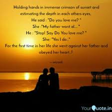 Holding Hands In Immense Quotes Writings By Ankit Zharbade