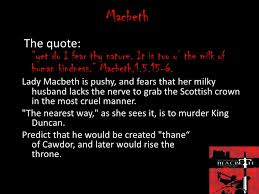 Lady Macbeth Quotes 89 Inspiration The Manipulative Nature Of Lady Macbeth Term Paper Service