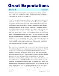 essay on great expectations ks4 prose great expectations by charles dickens teachit