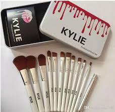 kylie makeup brushes 12 piezas professional brush sets marcas make up foundation powder beauty tools kits de cepillo cosméticos con rel iron box