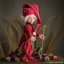 Mocable Christmas elf MELVIN ball jointed doll | Art dolls, Ball jointed  dolls, Elf doll
