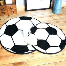 soccer ball rug football diameter acrylic round carpets and rugs for children room area carpet australia 1 4 ca