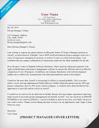 Project Manager Cover Letter Sample Tips Resume Companion Within