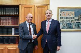 The reception of the UNICEF representative to Romania, Pieter Bult, by the  Minister Delegate for European Affairs, George Ciamba - Romanian Presidency  of the Council of the European Union