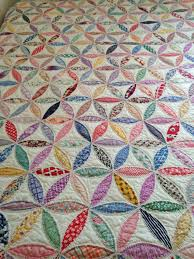 Best 25+ Vintage quilts ideas on Pinterest | Quilt patterns ... & Pristine Orange Peel Quilt -Vintage Fabric & Totally Hand Quilted Beauty Adamdwight.com