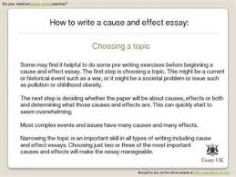 ideas for a cause and effect essay cause and effect essays topics interesting power point help