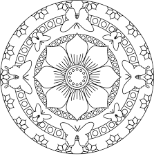 Free Printable Easy Mandala Coloring Pages Printable Coloring Page
