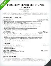 Resume Food Service Simple Service Industry Resume Food Service Worker Resume Sample Use This