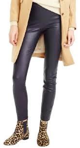 j crew black collection leather leggings pants