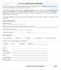 Previous Employment Verification Forms Past Form – Jumpcom.co ...