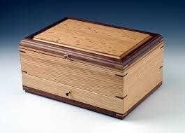 oak single drawer jewelry box