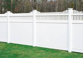 Vinyl fence styles Emblem Vinyl The Chesterfield Huntington Vinyl Fence Section Now Has The Option Of Scalloped Picket Finished Look Discount Fence Supply Chesterfield With Huntington Accent Vinyl Fence By Bufftech