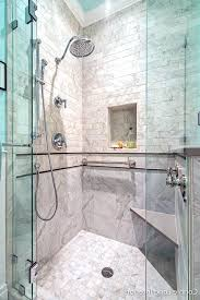 decorative shower grab bars decorative grab bars bathroom traditional with subway tile home builders walk in