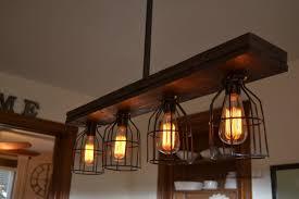 caged wood kitchen island pendant light