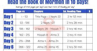 10 Day Book Of Mormon Reading Challenge Linda Winegar
