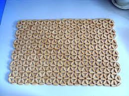 wooden bead silicone placemats
