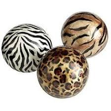 Leopard Decorative Balls Stylish home Decorating with animal prints Decorating Stylish 1