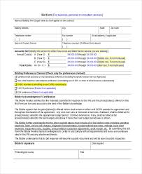 Construction Bid Form Sample Construction Bid Forms 8 Free Documents In Word Pdf