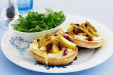 apple  camembert bagel