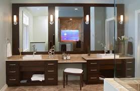 best bathroom lighting. Extraordinary Best Bathroom Lighting For Makeup Vanity With Small Bench Along Drawer Images Ideas G