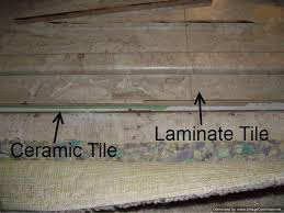 install laminate flooring over ceramic tile this saves the expense and hassle of removing it