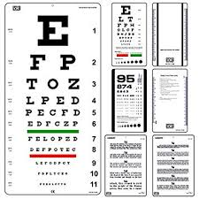 Jaeger Number 1 Eye Chart Amazon Com Snellen Eye Chart 20 Feet With Snellen Pocket