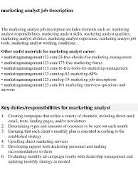 Marketing Analyst Job Description Download Project Analyst Job Description DocSharetips 20