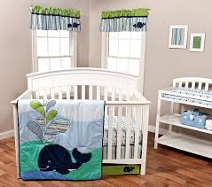 amazing whale pattern superhero crib set with anchor crib bedding trends