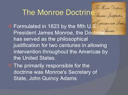 Image result for George Bush and the Monroe Doctrine