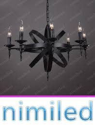 nimi796 6 8 12 lights modern mediterranean american industrial retro nostalgia nordic black wrought iron candle pendant lighting chandelier lamp shades