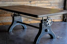 collect this idea crank table design by vintage industrial 11 american retro style industrial furniture desk