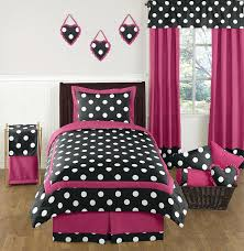 polka dot bed sets hot pink black and white teen bedding set by sweet designs 4