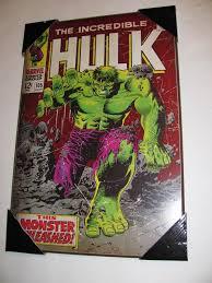 Marvel Bedroom Decor 1 New Marvel Comics Wall Art Plaque Incredible Hulk 105 Cvr