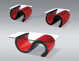 red and black furniture. the round curves of this red and black modern furniture